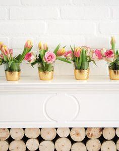 DIY Gold Leaf Vases