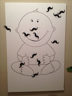Pin the mustache on