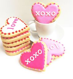 Cute Valentine's Day cookies.