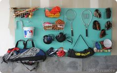 pegboard organization in the garage
