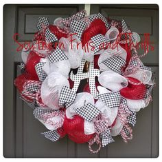 Alabama Deco Mesh Wreath by SouthernThrills on Etsy, $60.00