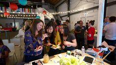 @Aubrey Godden Kendall (Obata) @Annie Compean Katrina Lee @Ash Huang Huang shake their poloroi