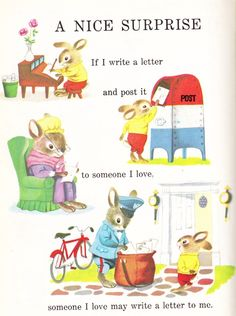 richard scarri, richard scarry, book, children, letter writing, letters, mail boxes, kid, snail mail