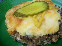 Low Carb White Castle Casserole from Food.com:   For authentic flavor, top each serving with dill pickles and mustard! This recipe freezes well.