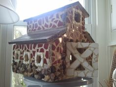 mosaic bird house barn!