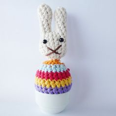 Happy Easter! ♥   Crochet Pattern for Egg Cosies.