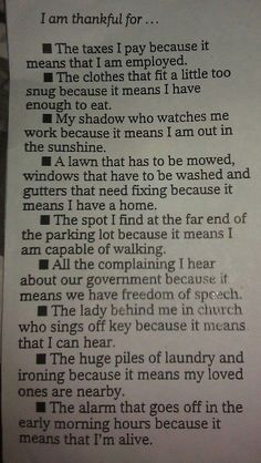 Be thankful... oh I like this!!