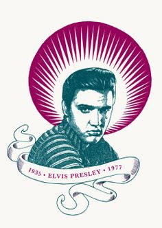 "RS178 - ""Elvis Presley"" Icon card by Ben Lamb Illustration & Design"