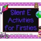 Silent E Activities for Firsties (26 pages) - (24) Silent-e Houses (pgs. 3-6) - (54) Silent-e Word Cards (pgs. 7-15) Use as flashcards or make 2 s...