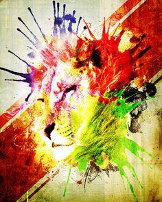 Lion. #lion #watercolor