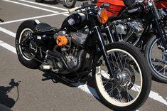 Black Harley Bobber