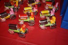 tractors, party treats, tractor birthday party favors, parties, candi, tractor parti, blog, parti idea, kid