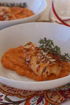 #paleo Flaky Sriracha Cod over Parsnip Carrot Mash