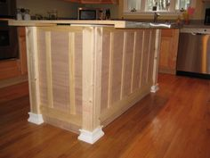 Kitchen island update midway...could start from scratch with an inexpensive or used cabinet base.