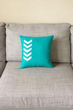 Chevron Arrow Pillow DIY with felt