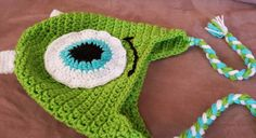 Crochet Monsters Inc Mike Wazowski by sunshinenserendipity on Etsy
