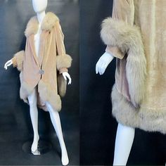 1920's velvet fox fur coat