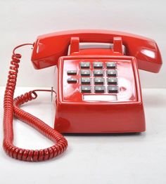 Vintage Desk Telephone - Fire Engine Red by American Telephone on Scoutmob Shoppe