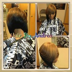 Quick weave bob with color
