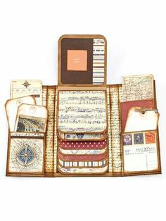 #papercraft #Scrapbook Layered #minialbum ideas - an option for theatre/movie/event keepsakes