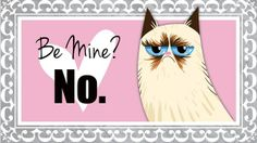 Say 'No' To Valentine's Day With These Grumpy Cat e-Cards - DesignTAXI.com
