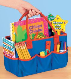 Can't have enough organization/store/transport options!  Carry-All Teacher's Caddy  #LakeshoreDreamClassroom