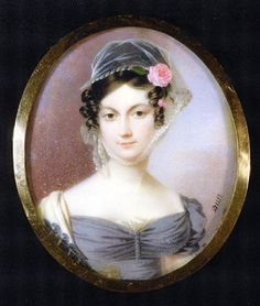 Eliza Augusta Falconet (Mrs. John Izard Middleton)  ca.1810  Artist: Nicholas-Francois Dun  watercolor on ivory  Gibbes Museum of Art