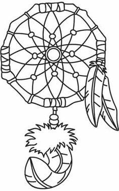 "Dreamcatcher design (UTH1456) from UrbanThreads.com 5.87""w x 9.41""h"