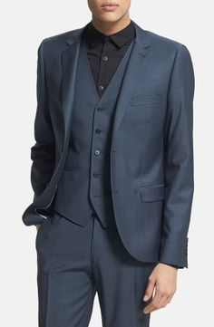 Navy suit for spring.
