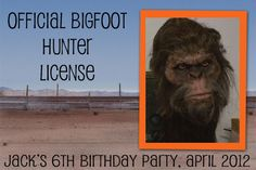 Big Foot Party for my lil dude.