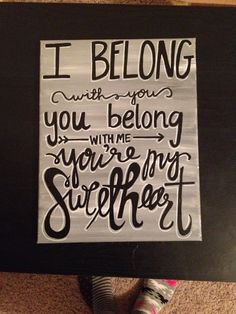 Lumineers Lyrics this was the song we walked out to at our wedding... I need to purchase this!