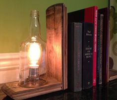 Bourbon Bottle Bookends.  Perfect