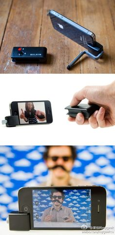Feel frustrated when you want to take remote photo with iphone but nobody around? This remote camera controller may solve the problem. Cheers!
