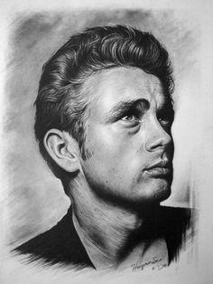 Incredibly detailed hand drawn James Dean. #sketch #art #jamesdean