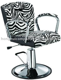 Zebra styling chair. Um...yeah. If I owned a hair Salon, this would be my 2nd purchase;)