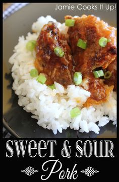 Sweet and Sour Pork from Jamie Cooks It Up! #dinnerrecipes, #asiandinner, #jamiecooksitup