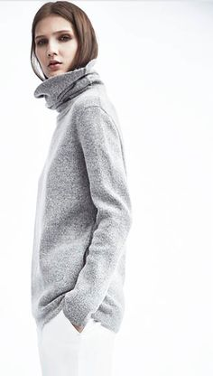 REISS classic rollneck || I can't think of anything more timeless than a grey turtleneck.