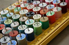 Thread Holder room on top to keep the matching bobbins with them :)