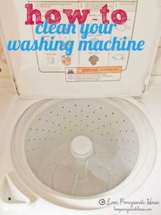Foto: How to clean your washing machine http://homeandgarden.craftgossip.com/how-to-clean-your-washing-machine/ #craft #DIY