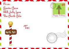 Shipping Label from Santa at the North Pole - PDF Elf on the shelf Printable-Christmas Printable- Elf Printable on Etsy, $3.00