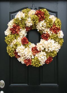 Autumn Wreaths Fall Hydrangea Wreath Fall Wreaths by twoinspireyou  ETSY!