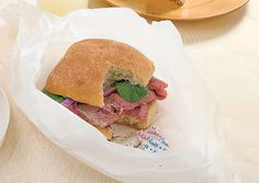 Roast Beef Sandwiches with Whole Grain Mustard and Cranberries