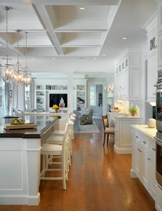 interior, living rooms, dream, family rooms, kitchen design, islands, ceilings, open kitchens, white kitchens
