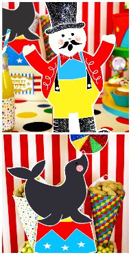 big top circus carnival party decor Love this!