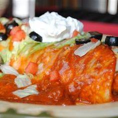 Fabulous Wet Burritos Allrecipes.com