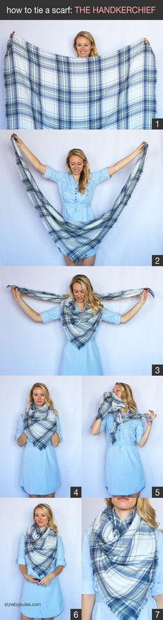 How to tie a scarf,