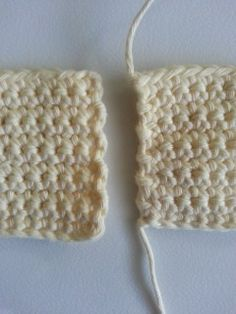 get straight edges with double crochet