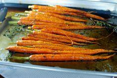 Whole Roasted Honey Balsamic Carrots