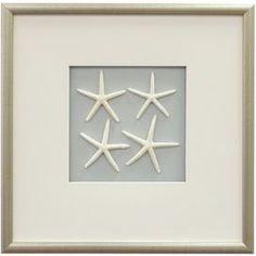 Starfish Framed Wall Decor in White  via Joss & Main