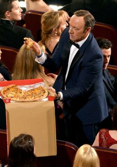 Kevin Spacey at Oscars featuring John Travolta's wig :-)